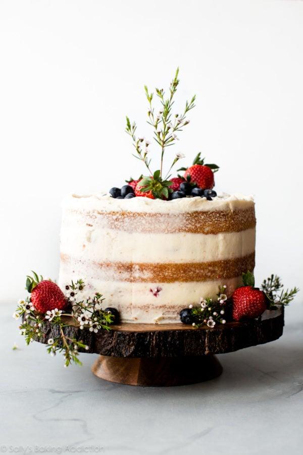 sallys baking addiction - vanilla naked cake
