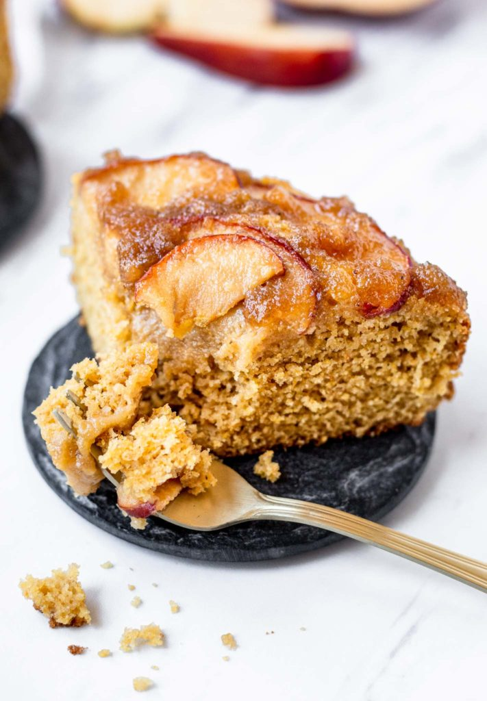 Slice of Apple Caramel Cake