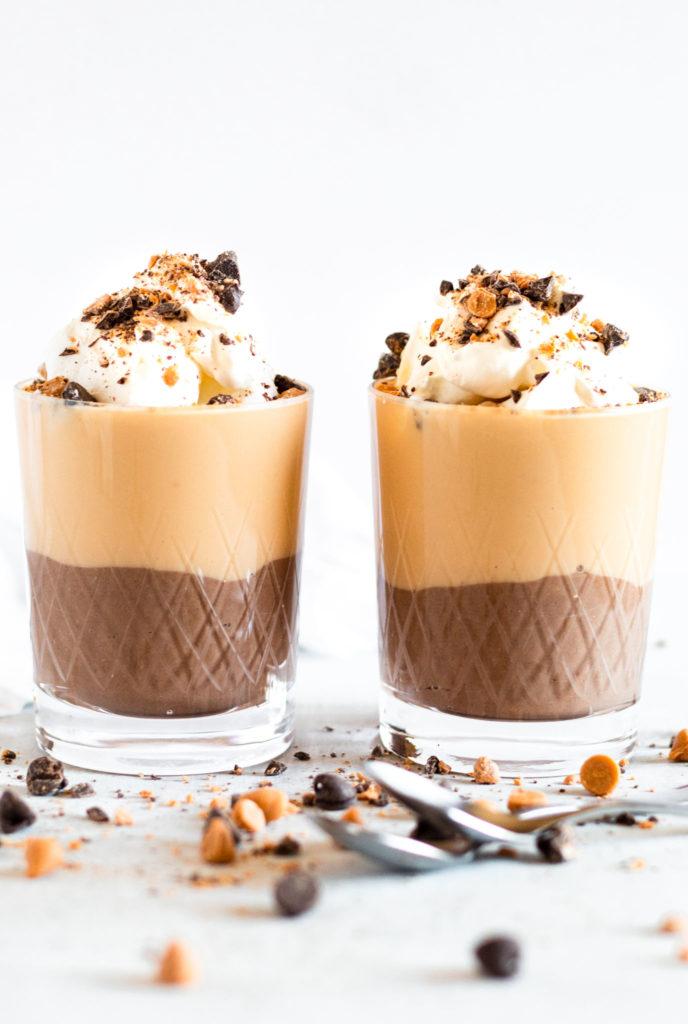 Small Batch Chocolate and Butterscotch Pudding Parfaits