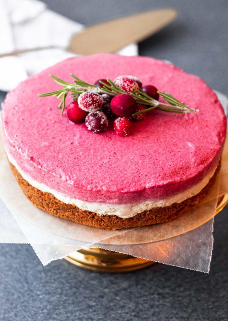 No Bake Holiday Cheesecake