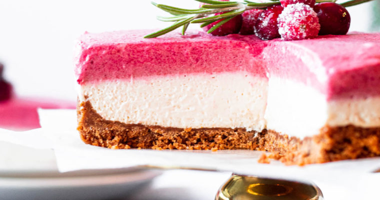 No-Bake Cranberry Mousse Cheesecake
