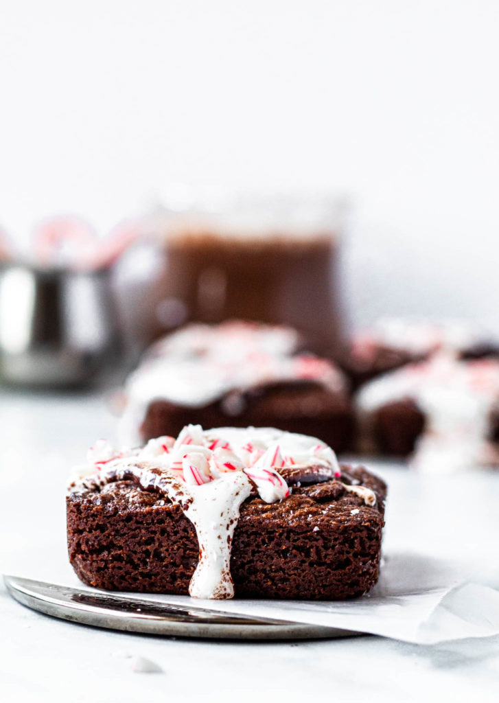 Brownies with Ganache and Marshmallow Cream
