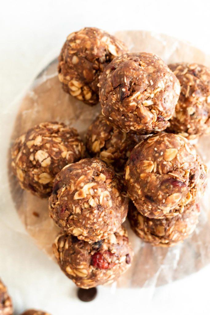 Chocolate Cranberry Energy Bites