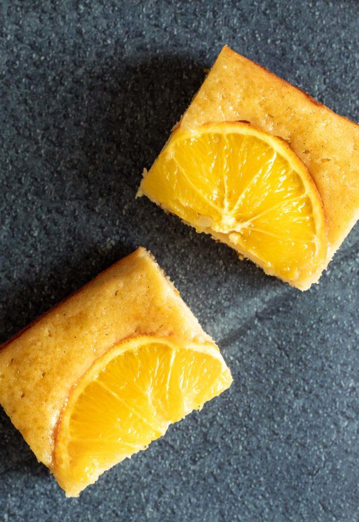 Delicious Slices of Citrus Honey Snack Cake
