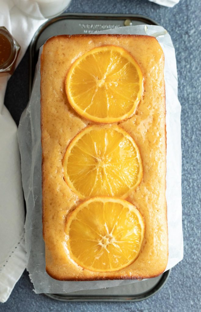 Citrus Snack Cake Made in Loaf Pan