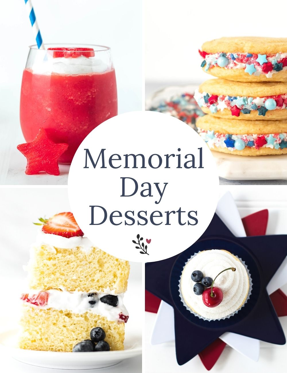 Memorial day desserts recipe round up