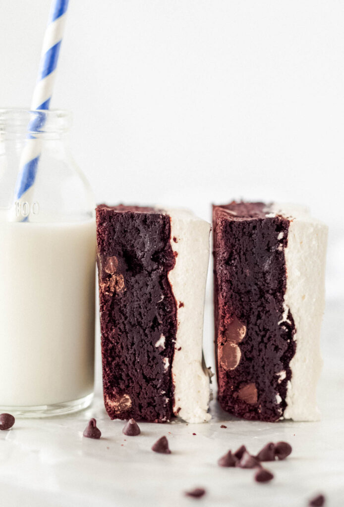 Fudgy Brownies with Vanilla Whipped Topping