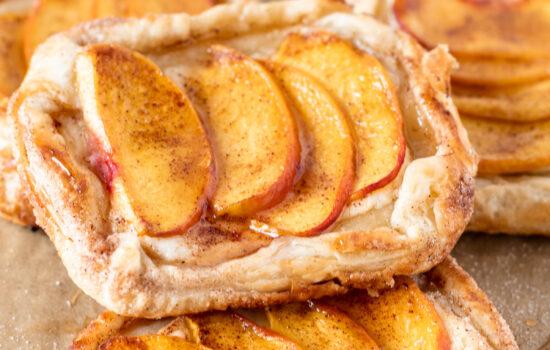 Mini Peach and Cream Cheese Tarts