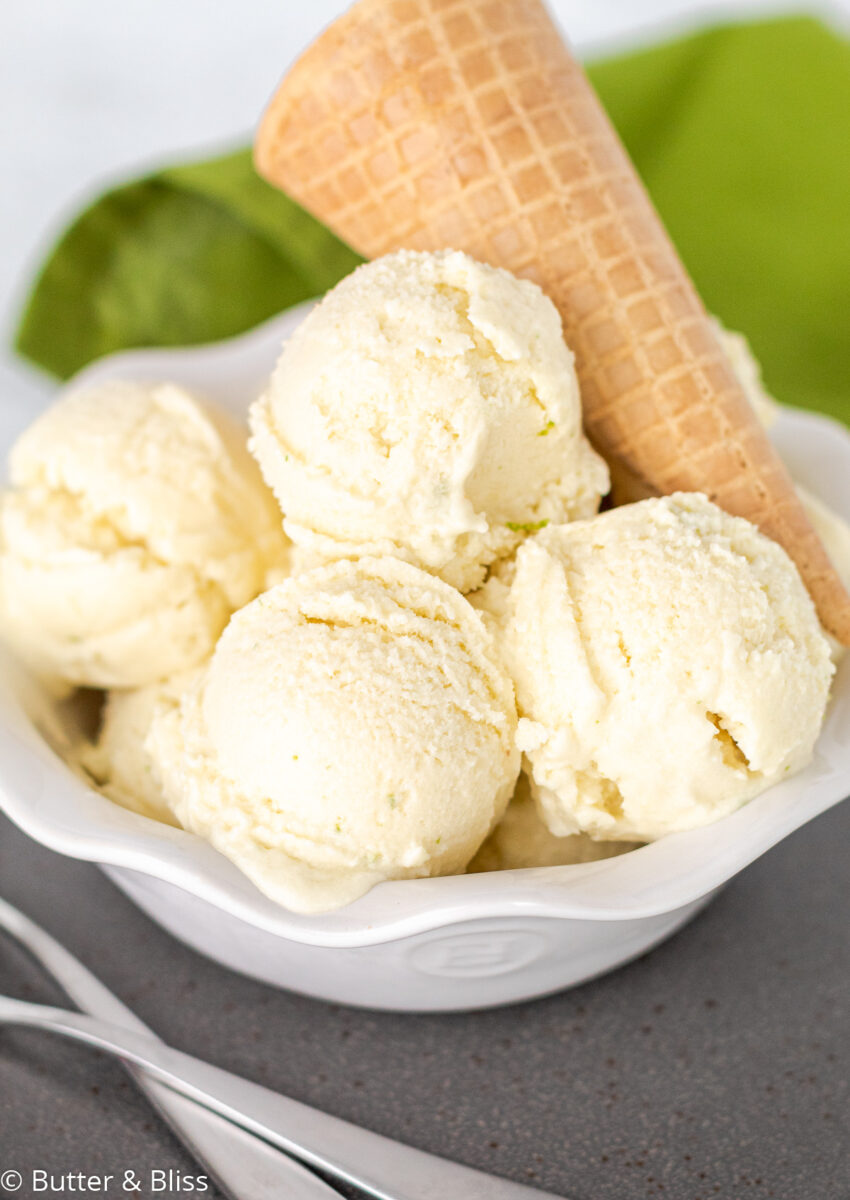 Scoops of homemade ice ceam