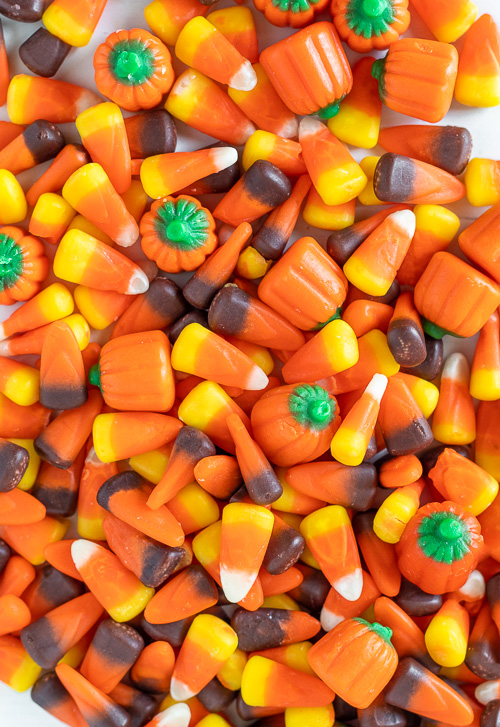 A lot of candy corn candy