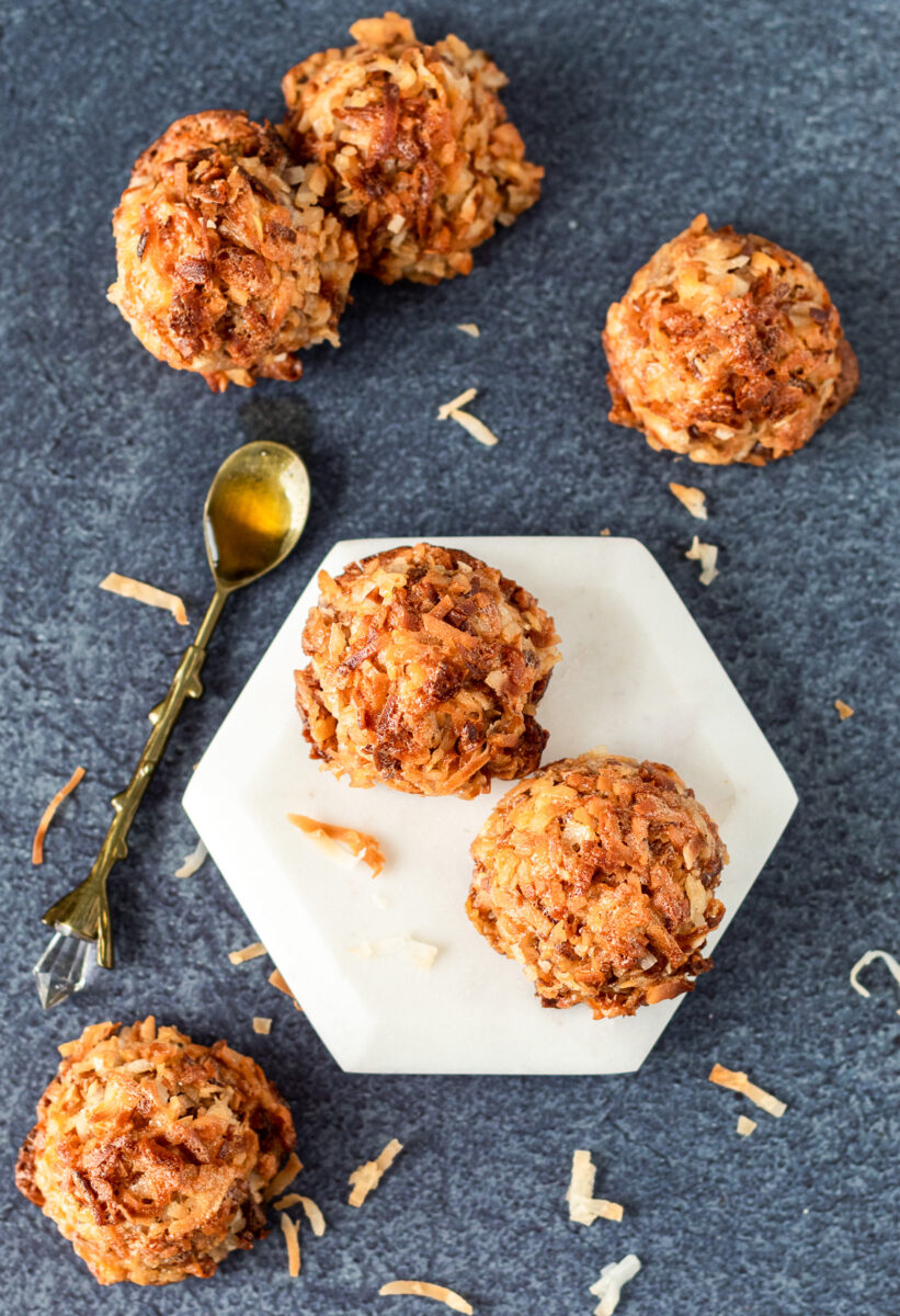 Small batch of toasted coconut maple macaroons