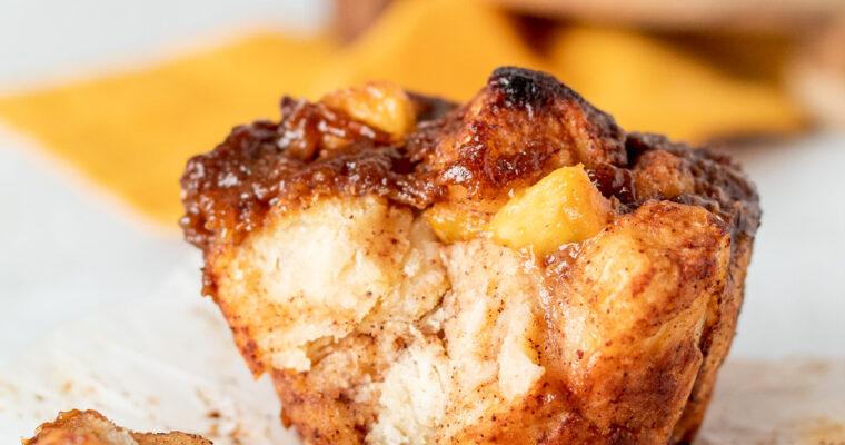 Peach Monkey Bread Muffins