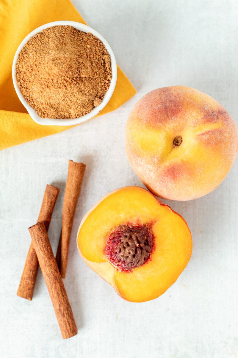 Fresh cut peach