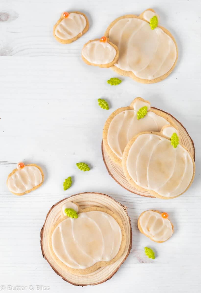 Pumpkin sugar cookie cut outs