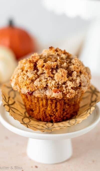 Apple Pumpkin Streusel Muffins