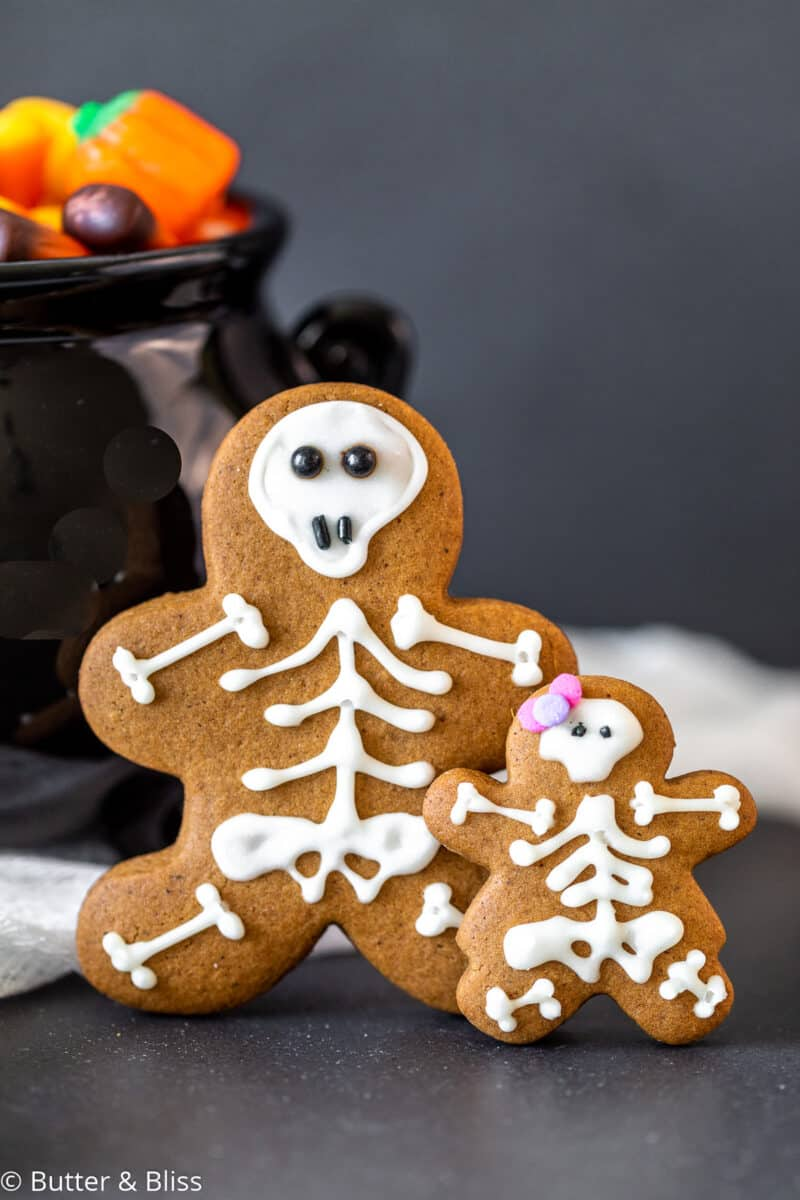Spooky cute decorated cookies