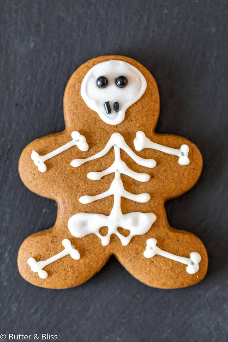 Cute gingerbread skeleton cookie