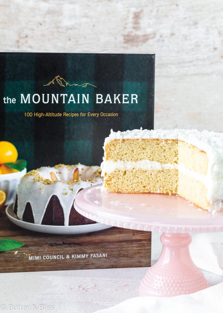 Sliced coconut cake from Mountain Baker Cookbook
