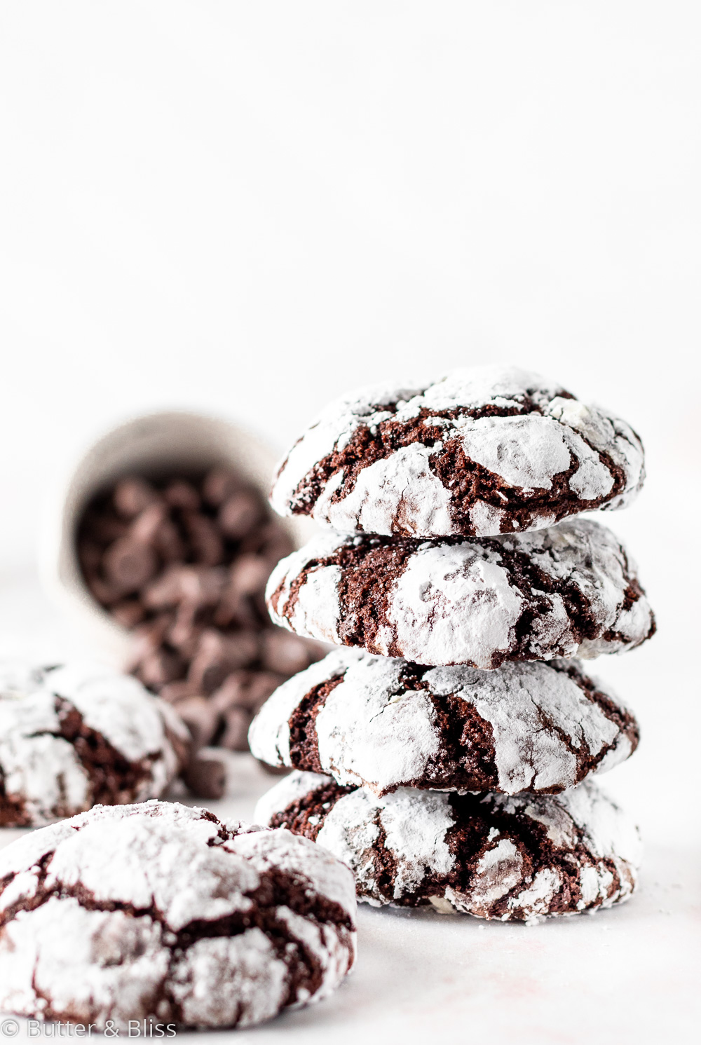 Holiday chocolate cookie stack