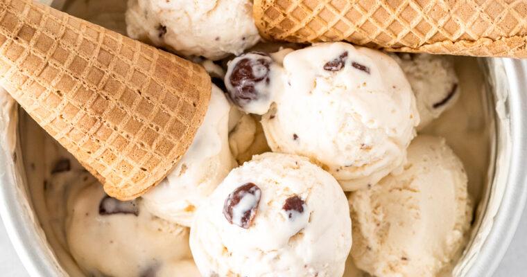 Vanilla Malted Milk Ball Ice Cream (No-Churn)