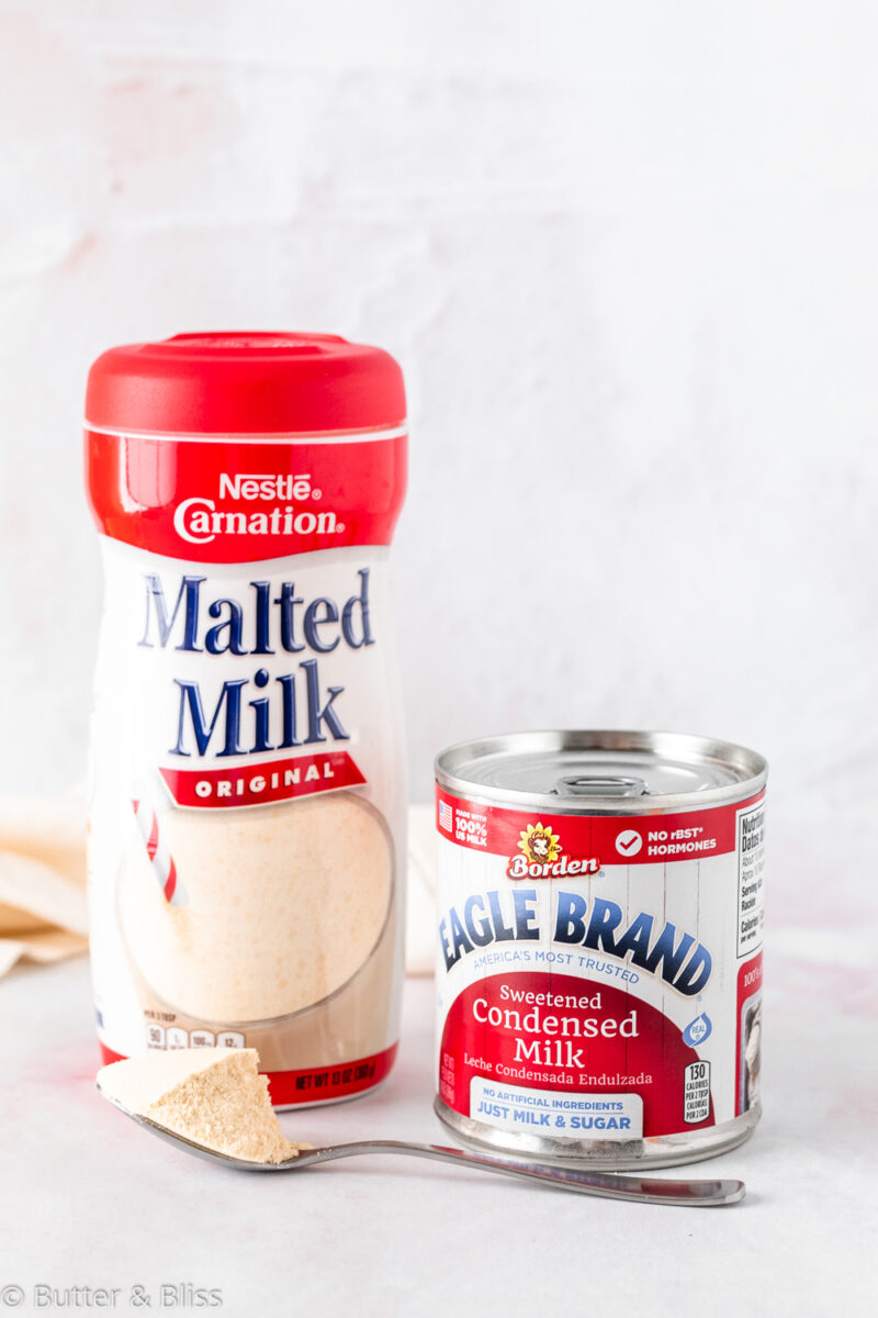 Ingredients in malted milk ball candy ice cream