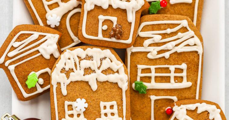 Gingerbread Cookies with Apple Cider Icing