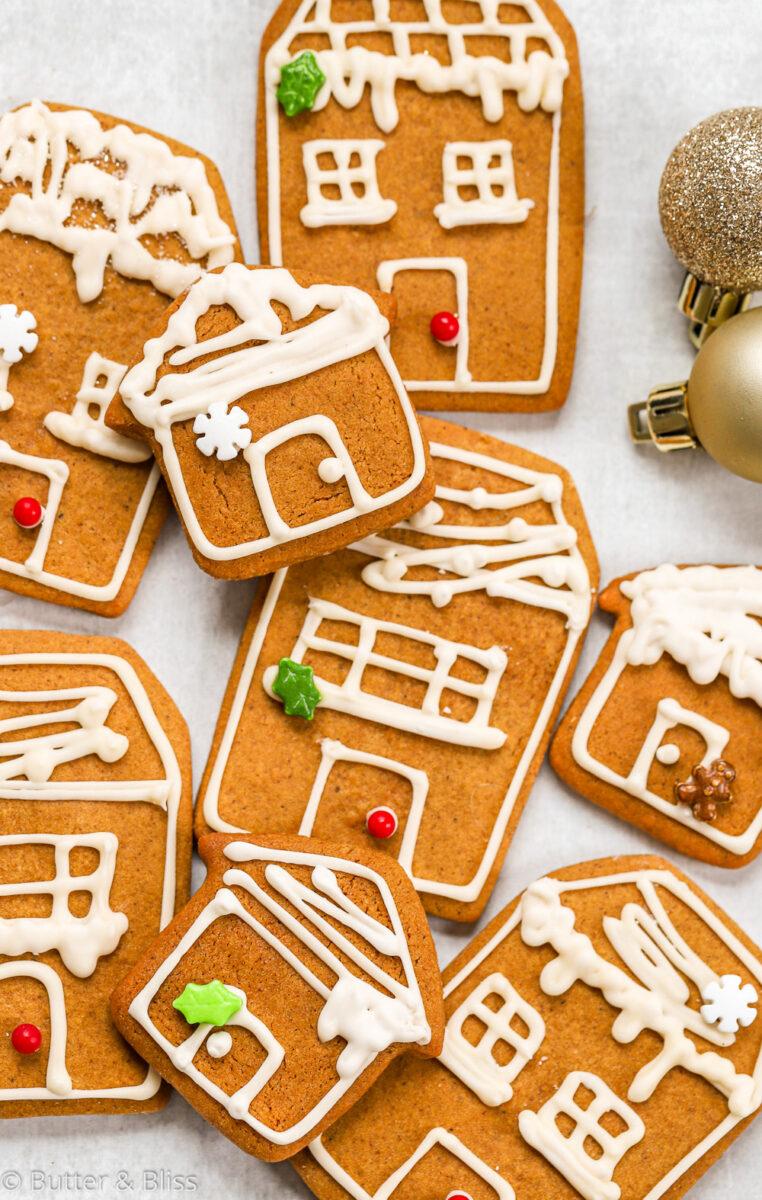 christmas gingerbread house cookies