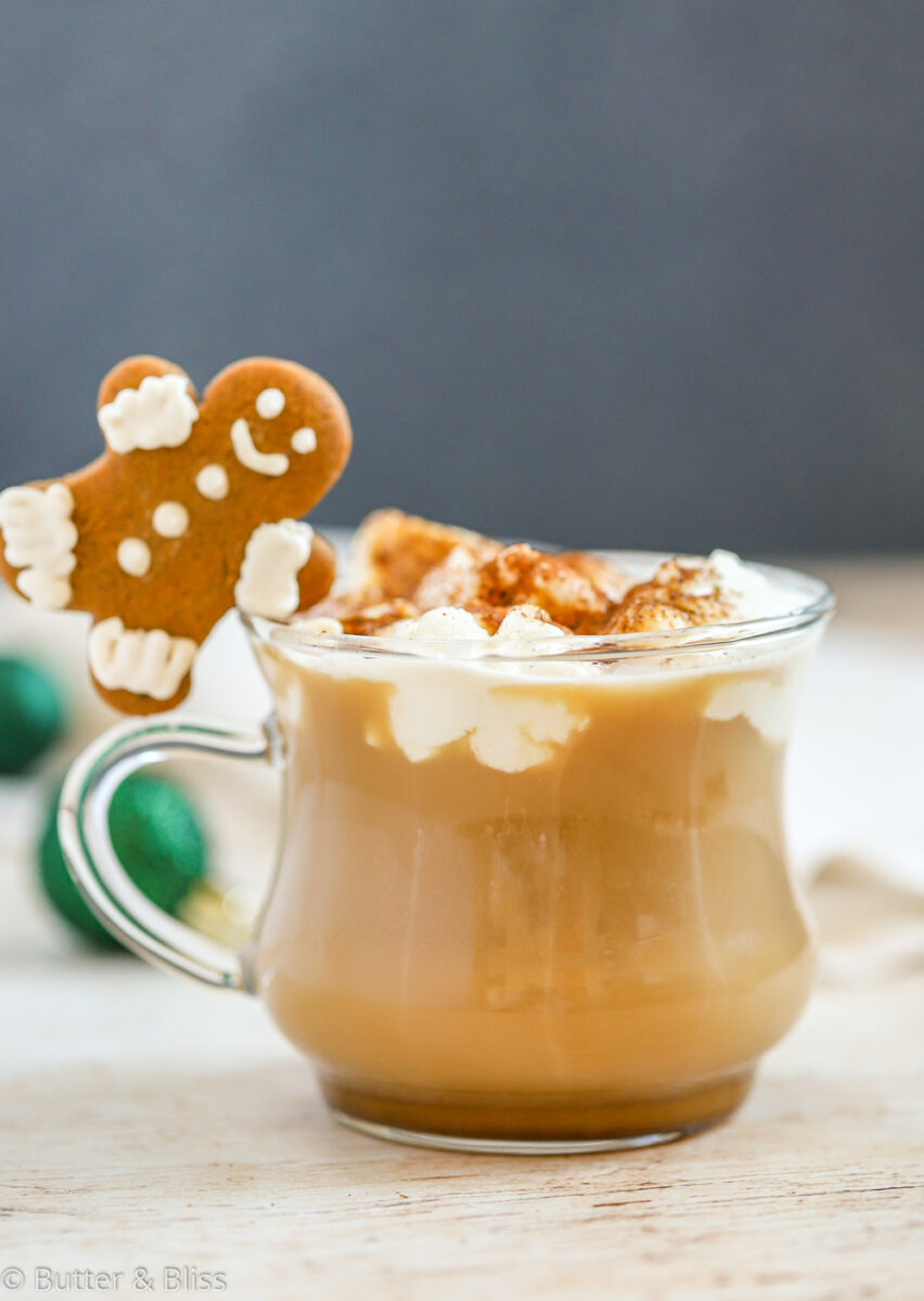 Hot cup of holiday coffee