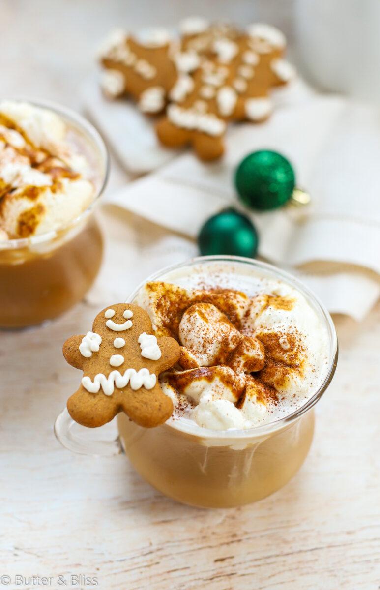 Christmas coffee lattes