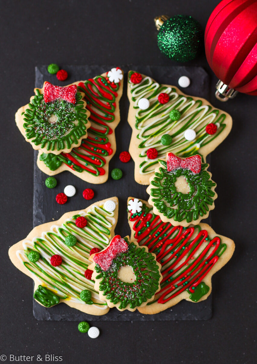 Decorated sugar cookie cut outs