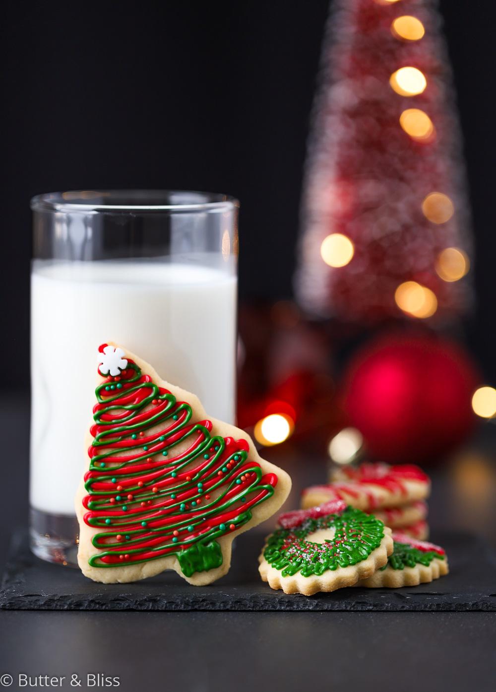 Festive cookies for Santa