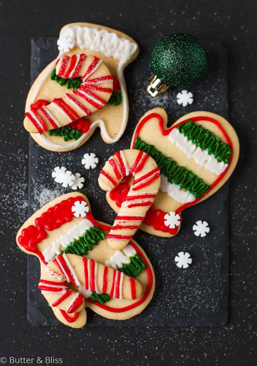 Christmas cookies with icing decorations