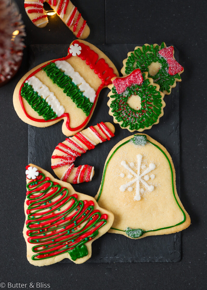 Decorated cookies for Santa