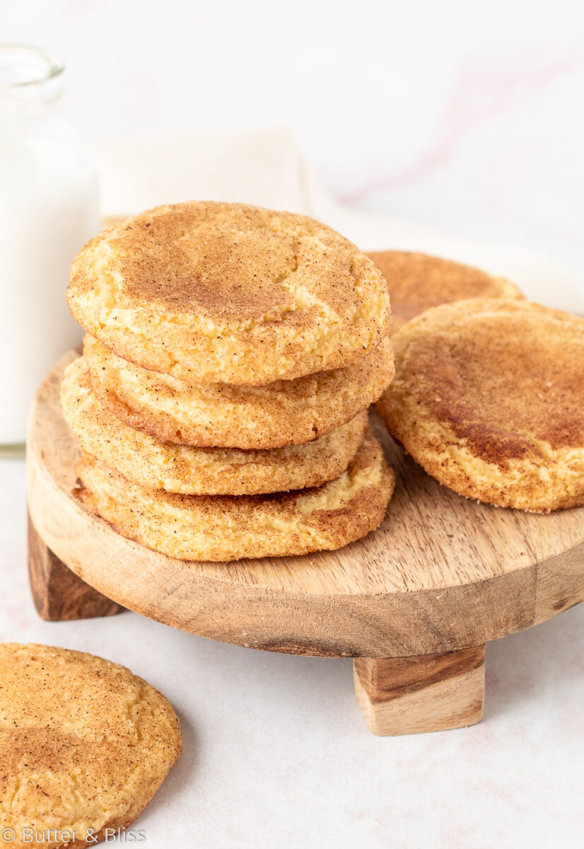 A platter of small batch Snickerdoodles