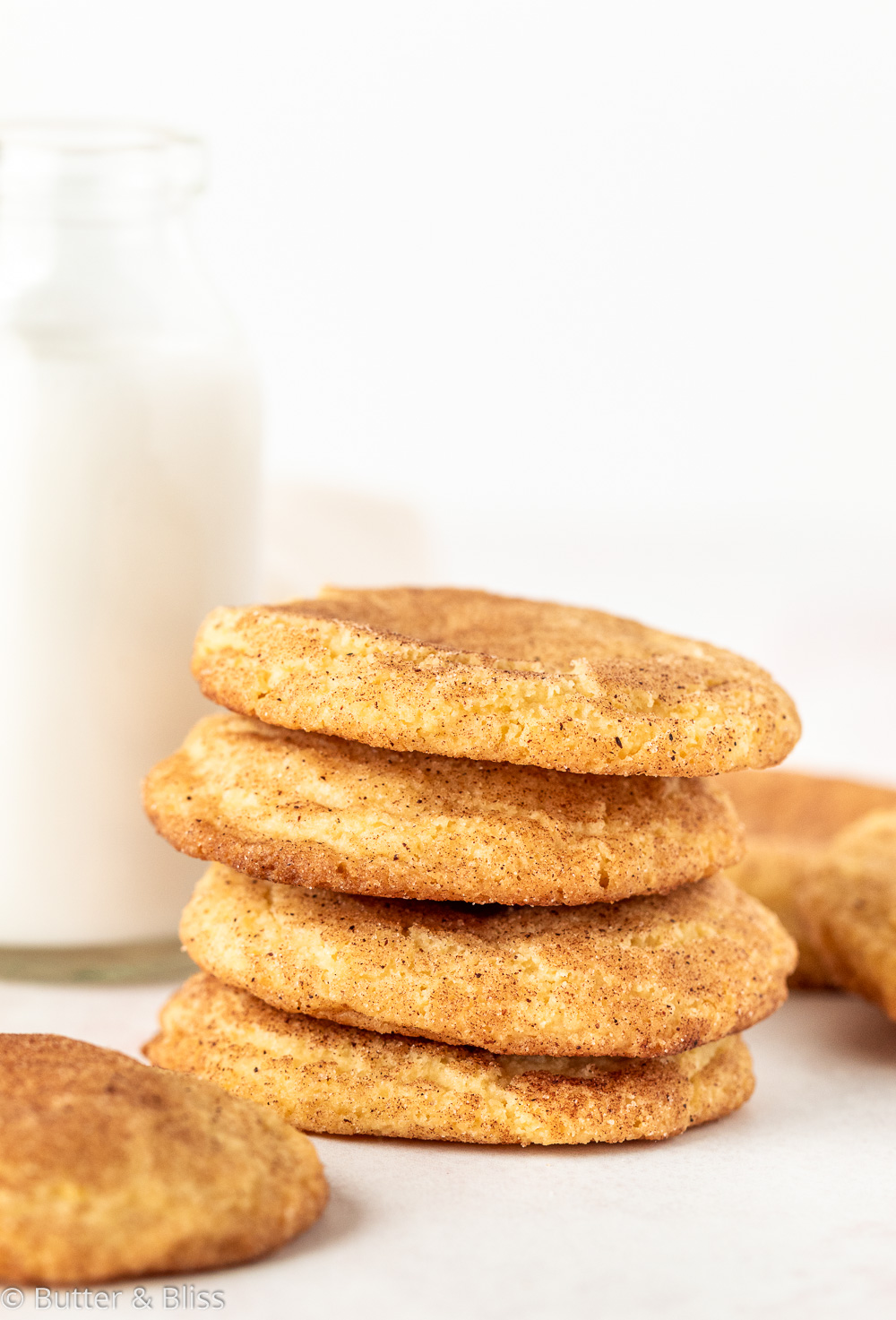 Snickerdoodles with a glass of milk