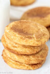A stack of cinnamon sugar cookies