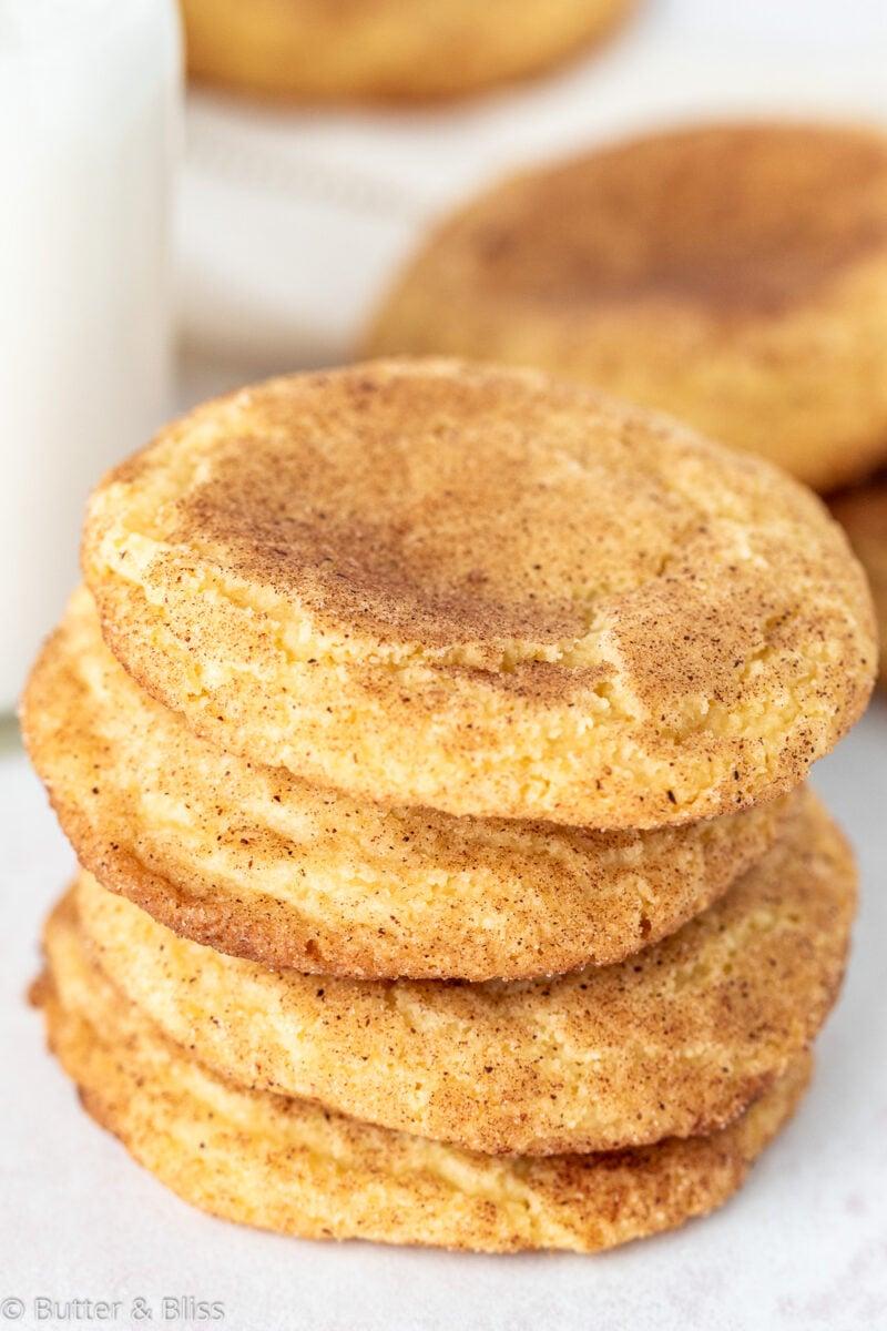 A stack of cinnamon sugar cookies
