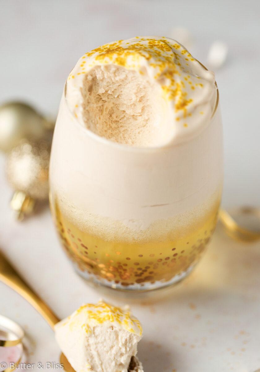 Creamy apple cider mousse parfait