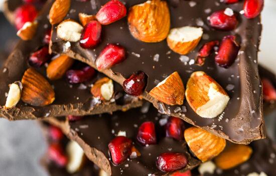 Healthier Dark Chocolate Bark Candy