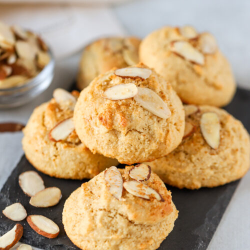 Almond cookies on a plate