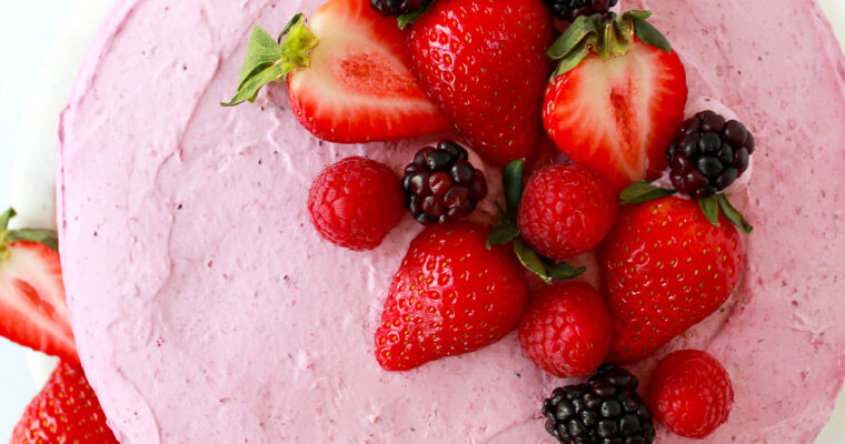 Berry Mousse Genoise Layer Cake