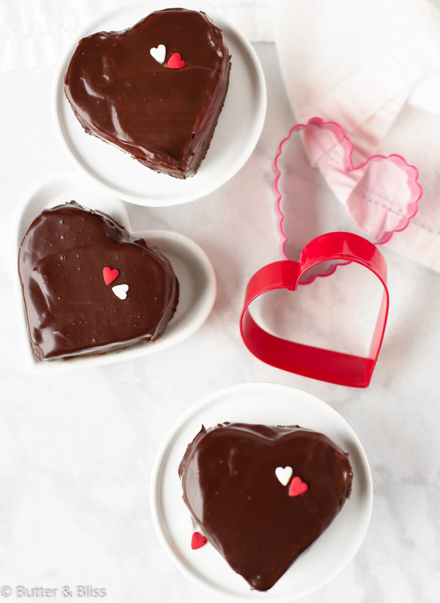 Heart shaped copycat ding dongs