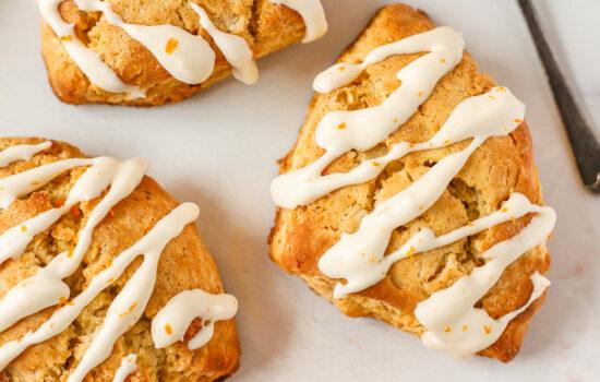 Orange and Almond Breakfast Scones