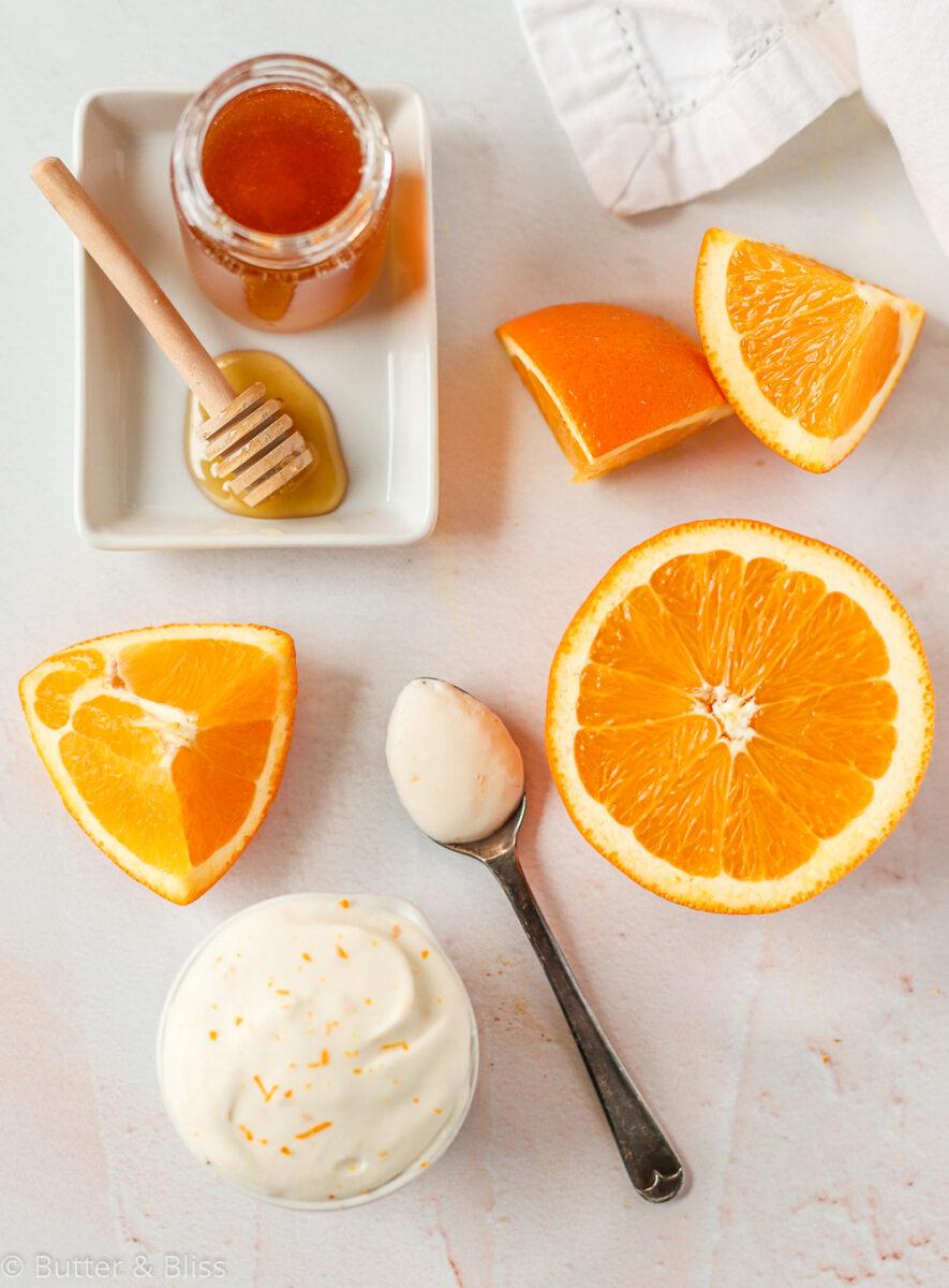 Orange scones ingredients