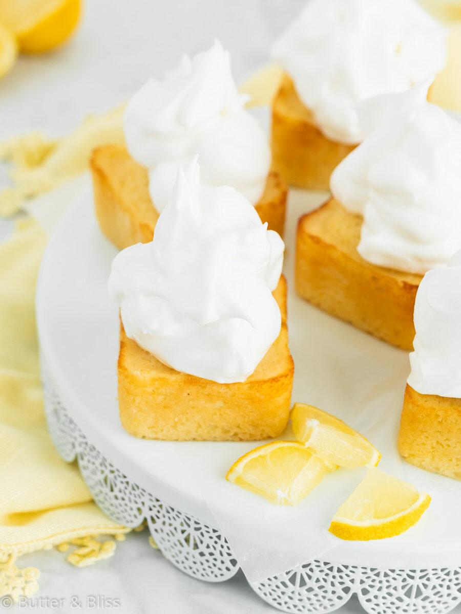 Tray of sweet lemon cakes