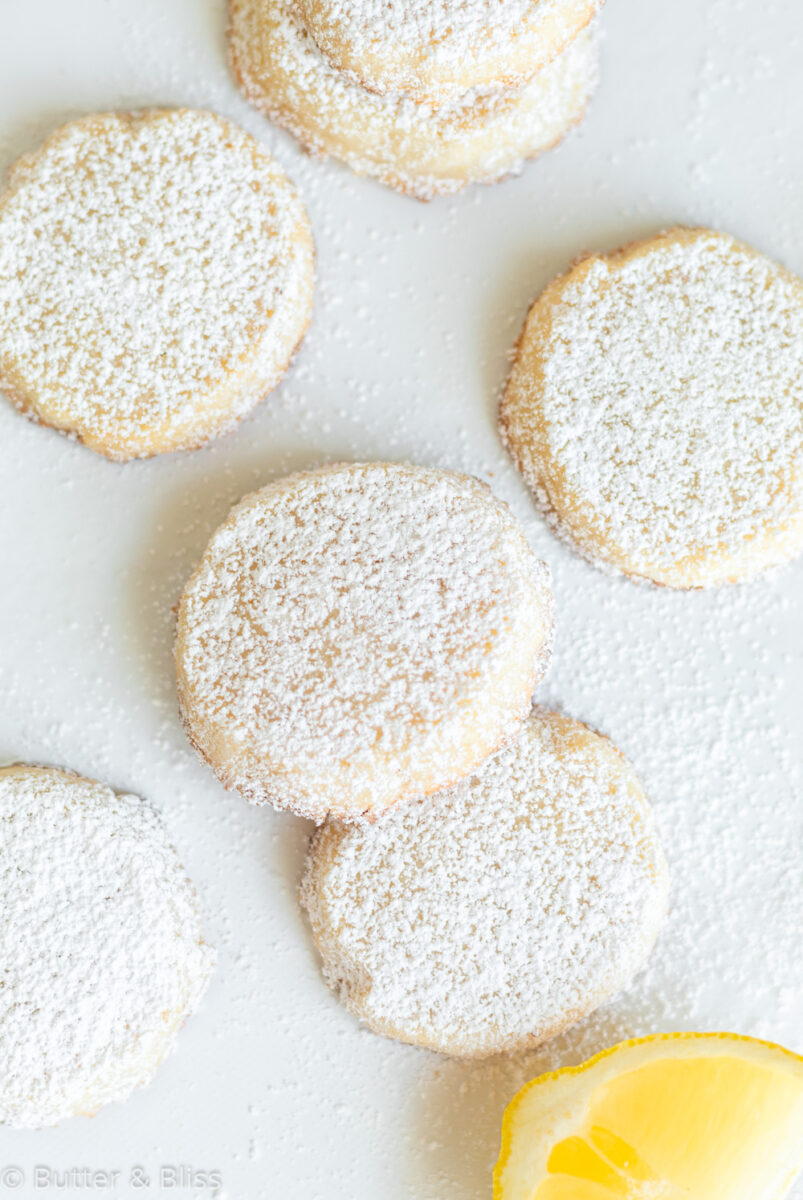 Shortbread cookies on top of a plate