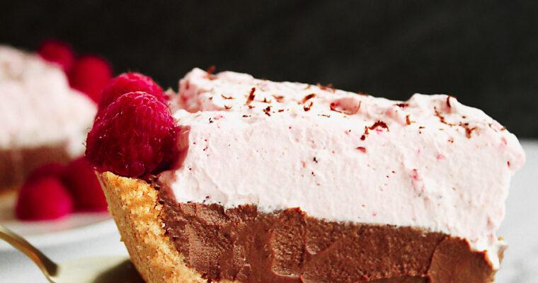 Chocolate and Raspberry Cream Pie