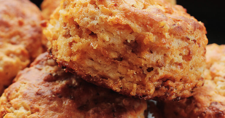Chorizo and Cheddar Buttermilk Biscuits