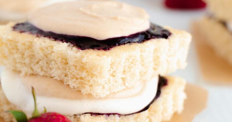 Peanut Butter & Jelly Hot Milk Cake
