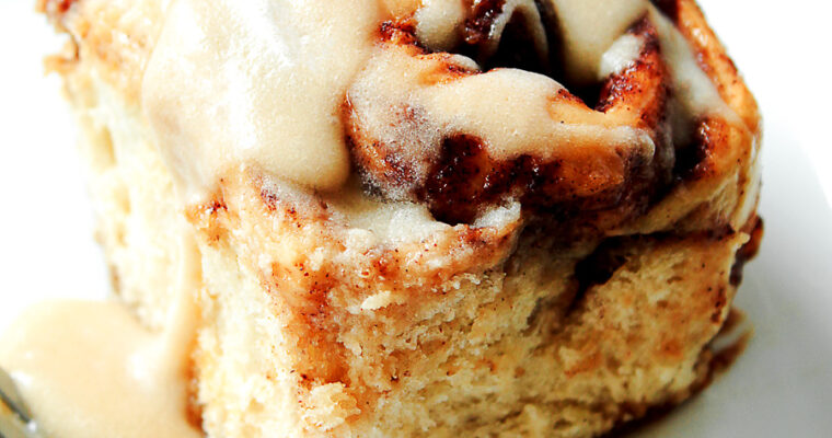 Cinnamon Rolls with Maple Syrup Glaze